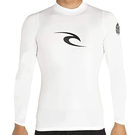 Rip Curl Long Sleeve UV Tee Rash Vest White